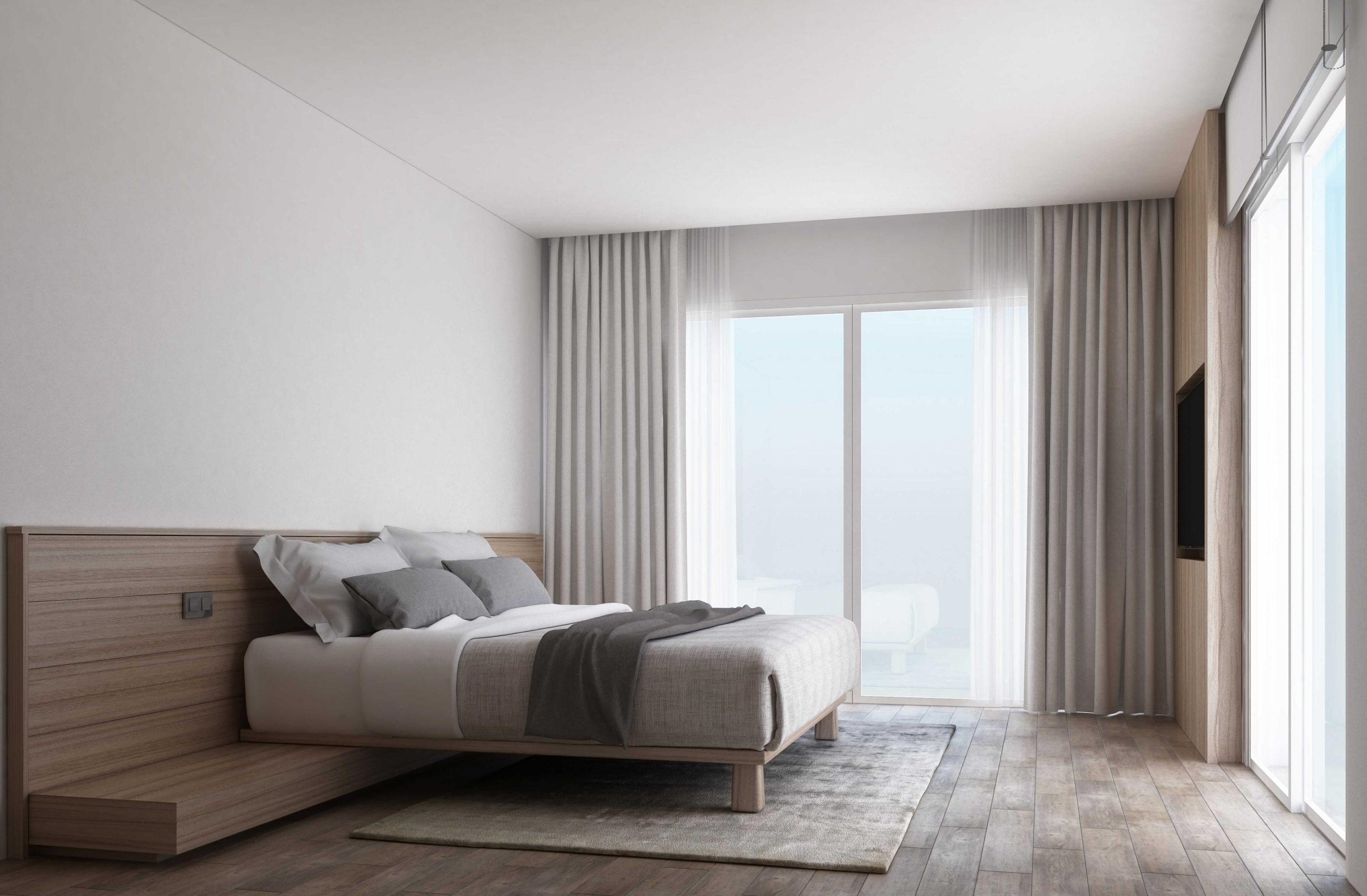 Designerskie łóżko
